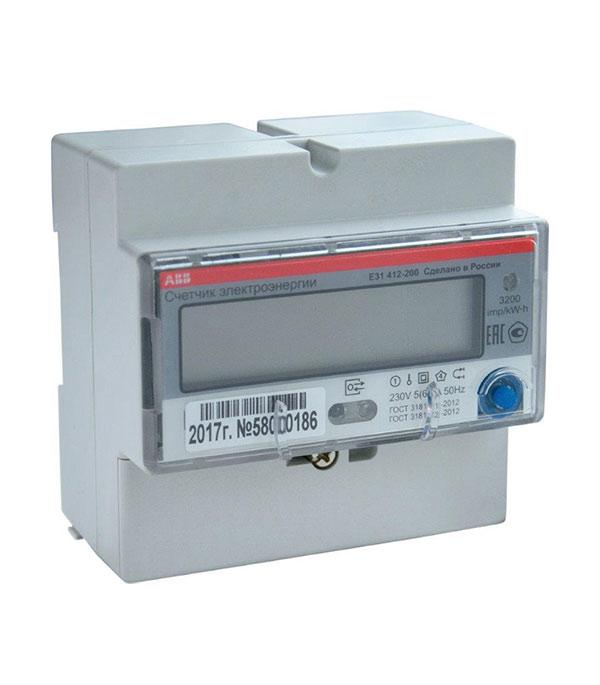 Счетчик ABB 1-фазный электронный 2-тарифный E31 5(80)А switch output module 8 relay output isolation type modbus rtu rs485 communication