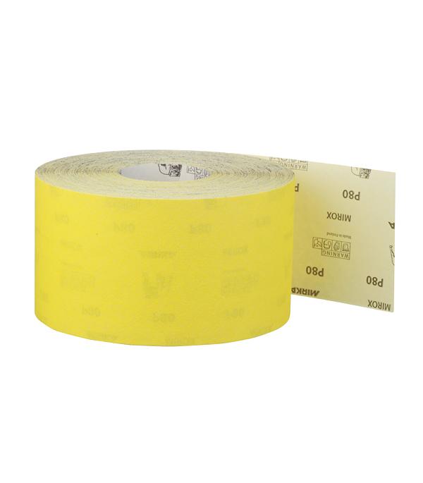 Наждачная бумага Mirox Mirka P80 желтая 115 мм 50 м bosch наждачная бумага