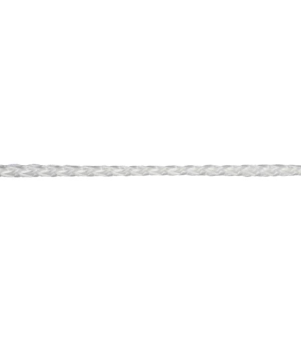 Плетеный шнур Белстройбат полипропиленовый белый d2 мм 50 м
