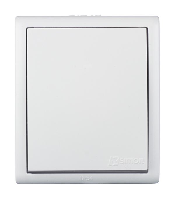 Выключатель одноклавишный IP54 10А 250В винтовой зажим S15A, белый выключатель одноклавишный legrandquteo о у влагозащищенный ip 44 белый