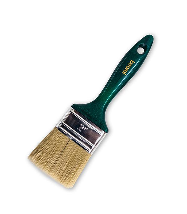 Кисть плоская Beorol натуральная щетина пластиковая ручка 50 мм кисть радиаторная universal master нат щетина 50мм stayer 0110 50 z01