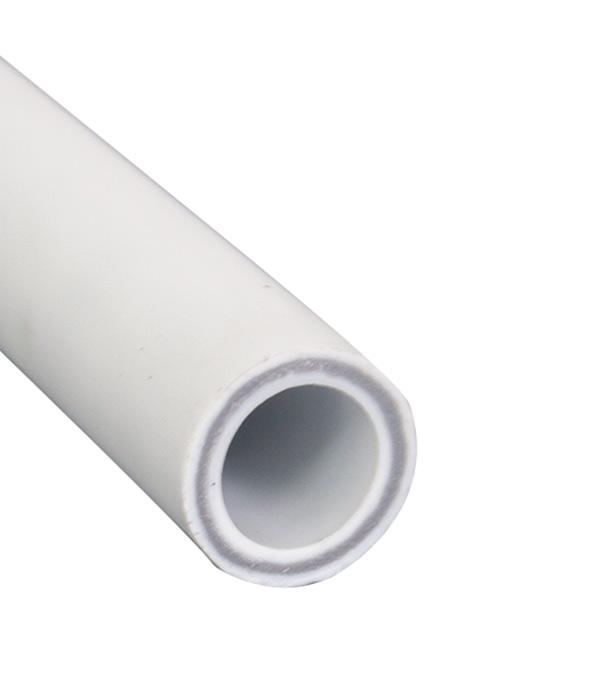 Купить Труба полипропиленовая, армированная стекловолокном 20х4000 мм, PN 25, РТП, Белый