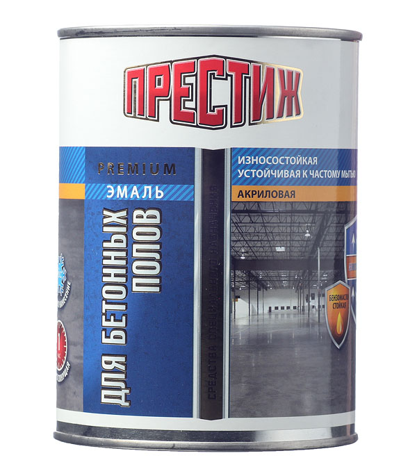 Эмаль для бетонных полов Престиж акриловая коричневая 1 кг
