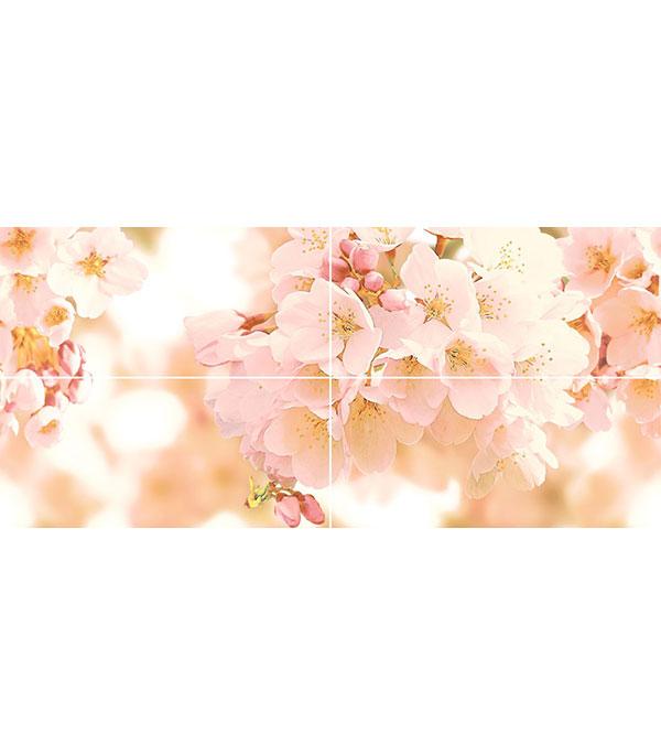 все цены на Плитка декор панно Sunrise Черри 400х880х8.5 мм (4 шт в комплекте) онлайн