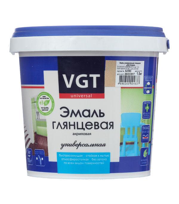 Эмаль акриловая глянцевая песочная VGT 1 кг грунт концентрат vgt водостоп акрил 1 кг