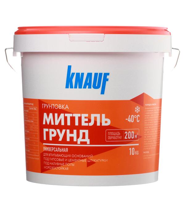 Купить Грунт для впитывающих оснований Миттельгрунд концентрат Кнауф 10 кг, Knauf, Желтый