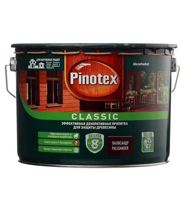 Декоративно-защитная пропитка для древесины Pinotex Classic палисандр 9 л