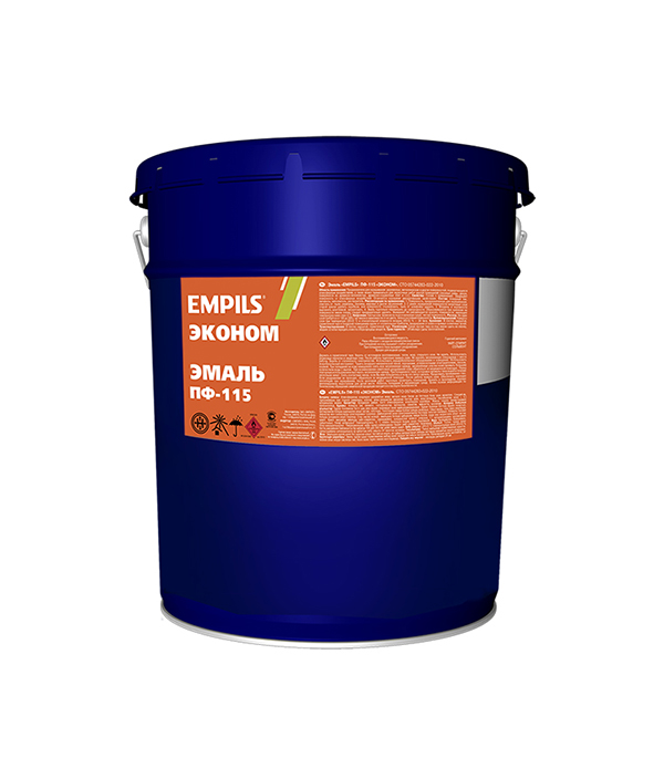 Эмаль ПФ-115 синяя эконом Empils 20 кг эмаль пф 115 синяя универсал расцвет empils 0 9 кг