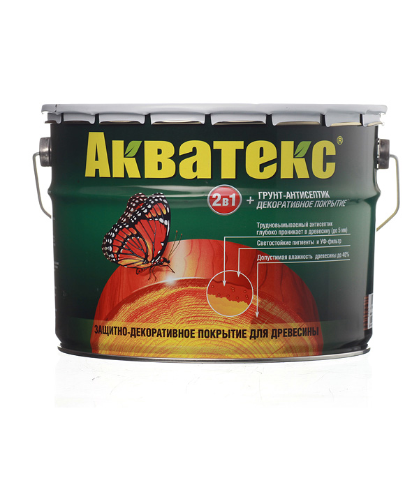 Антисептик Рогнеда Акватекс орех 10 л защитное покрытие для древесины акватекс белый рогнеда 10л