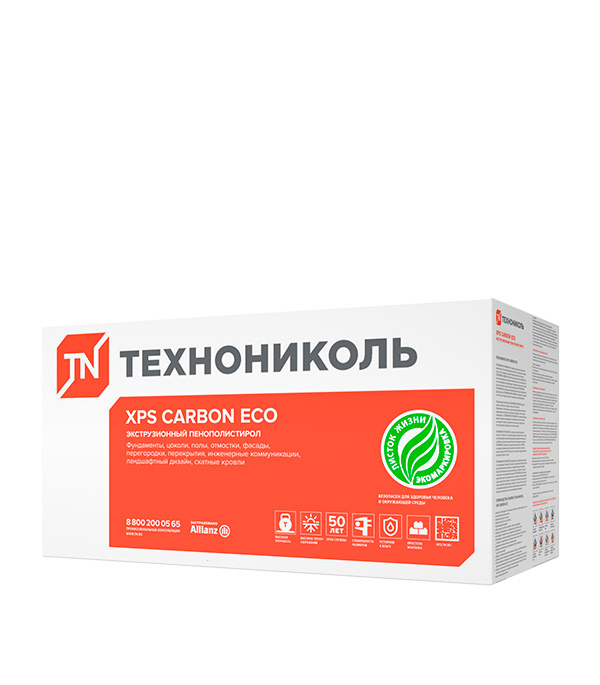 Экструдированный пенополистирол Технониколь Carbon Eco Г4 1180х580х100 мм