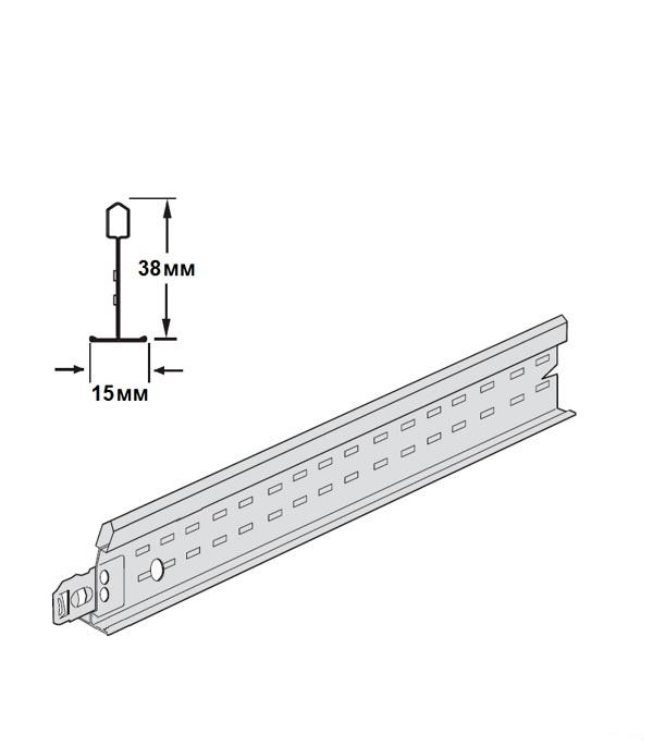Купить Профиль к подвесному потолку ARMSTRONG Т-15 Prelude 0, 6 м, Сталь