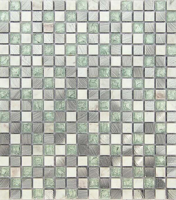 Мозаика из стекла и камня 305x305x8 мм Everest new