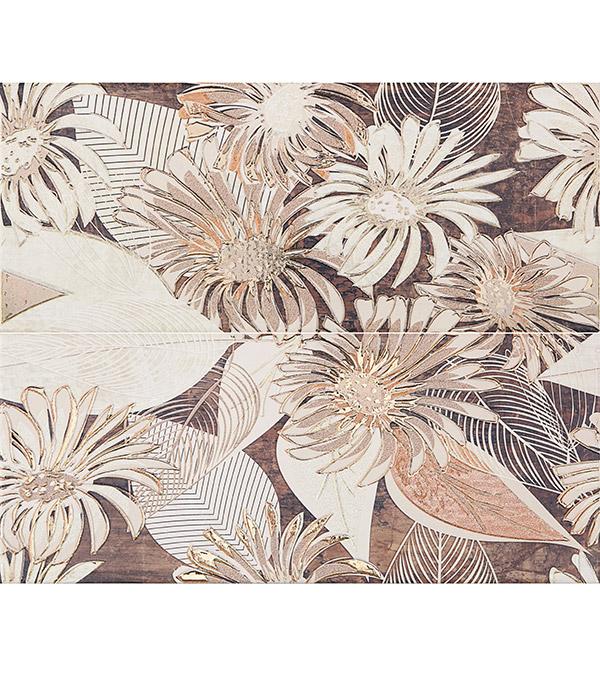 Плитка панно 500х600х8 мм Фореста 01 коричневый (2шт в комплекте) настенная плитка venus ceramica celine riga 22 5x60 7