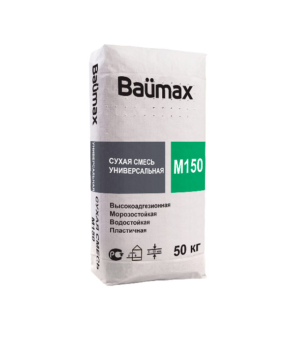 Цементно-песчаная смесь Baumax М-150 50 кг