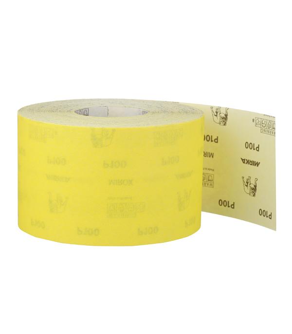 Наждачная бумага Mirox Mirka P100 желтая 115 мм 50 м неприкосновенный запас 5 115 2017