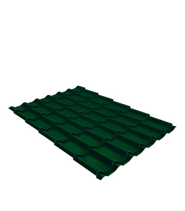 Купить Металлочерепица 1, 18х2, 25 м толщина 0, 5мм Satin зеленая RAL 6005, Зеленый