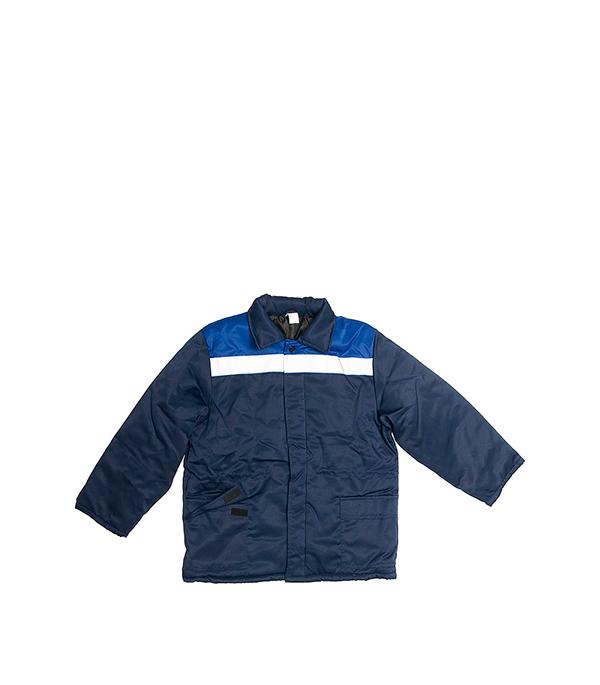 Куртка утепленная темно-синяя СЕВЕР размер 56-58 (112-116), рост 182-188