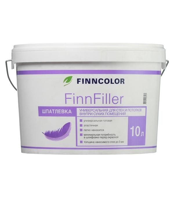 Шпатлевка финишная Finncolor Finnfiller 10 л шпатлевка финишная основит элисилк ра39 w 28 кг