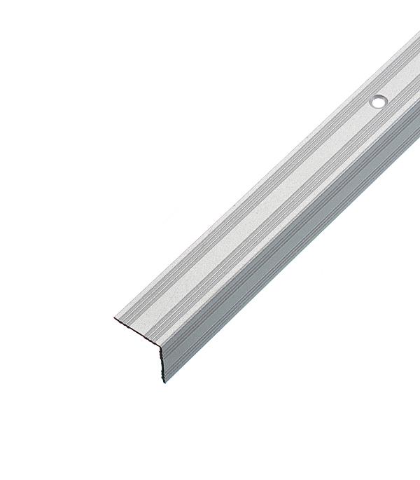 цена на Порог для кромок ступеней 19х19х1800 мм Серебро