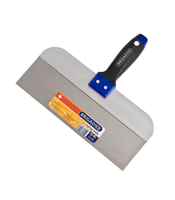 Шпатель фасадный Brigadier 350 мм с эргономичной ручкой шпатель фасадный kraftool 350мм с двухкомпонентной ручкой нержавеющее полотно 10036 350