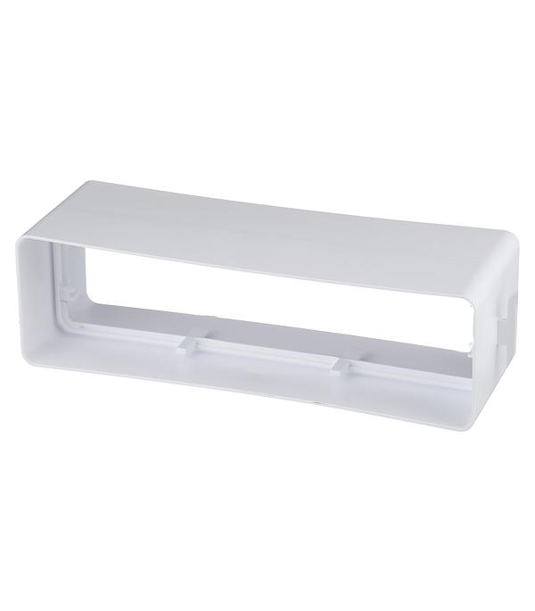 Соединитель для плоских воздуховодов пластиковый 60х204 мм врезка оцинкованная для круглых стальных воздуховодов d125х100 мм