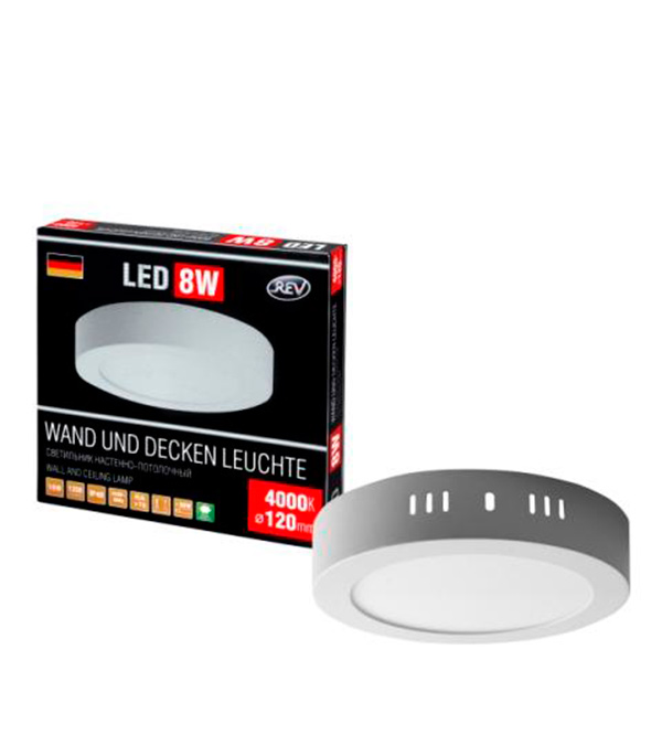 Светильник светодиодный REV накладной 8Вт 4000К дневной свет стоимость