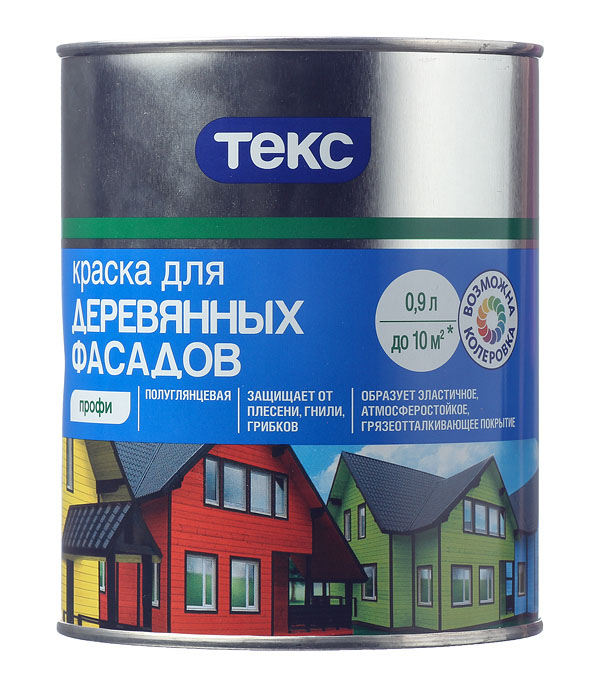 Фасадная краска по дереву Текс Профи основа D 0.9 л