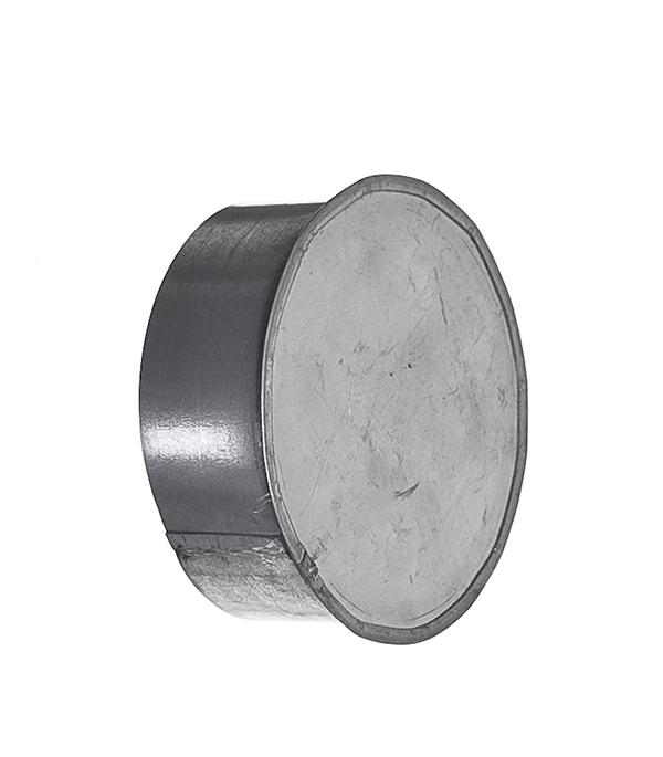 Купить Заглушка оцинкованная d100 мм, Хром, Сталь оцинкованная