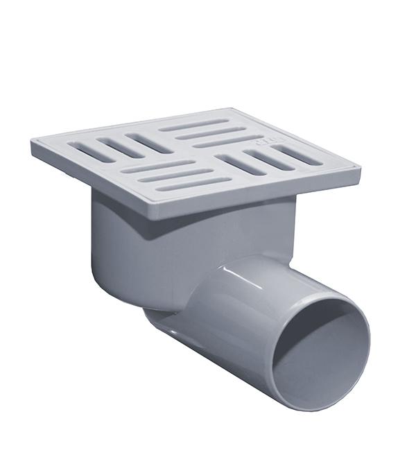 Трап горизонтальный с сухим затвором (с поплавком) 100х100 50 мм серый душевой трап pestan square 3 150 мм 13000007