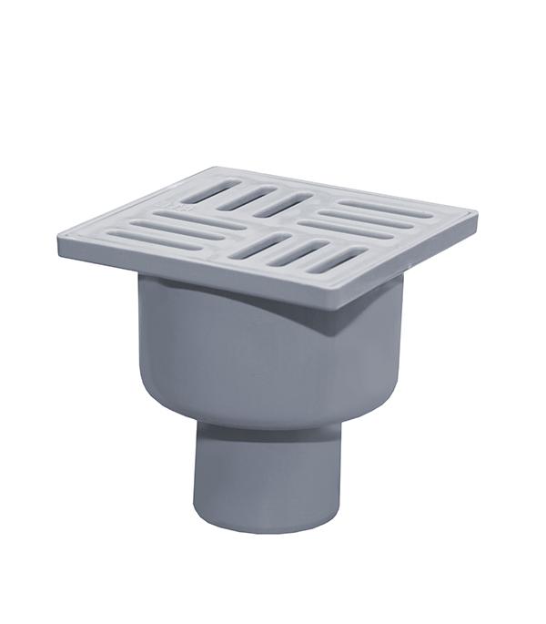 Трап вертикальный с сухим затвором (с поплавком) 100х100 50 мм серый душевой трап pestan square 3 150 мм 13000007