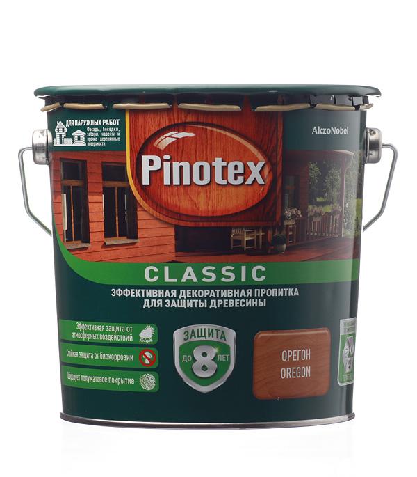 Купить Декоративно-защитная пропитка для древесины Pinotex Classic орегон 2.7 л, Орегон