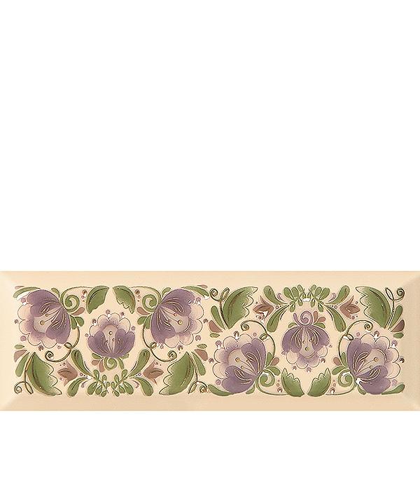 Плитка декор 100х300х8 мм Метро Гжель 07 лавандовый настенная плитка venus ceramica celine riga 22 5x60 7