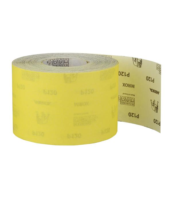 Наждачная бумага Mirox Mirka P120 желтая 115 мм 50 м bosch наждачная бумага