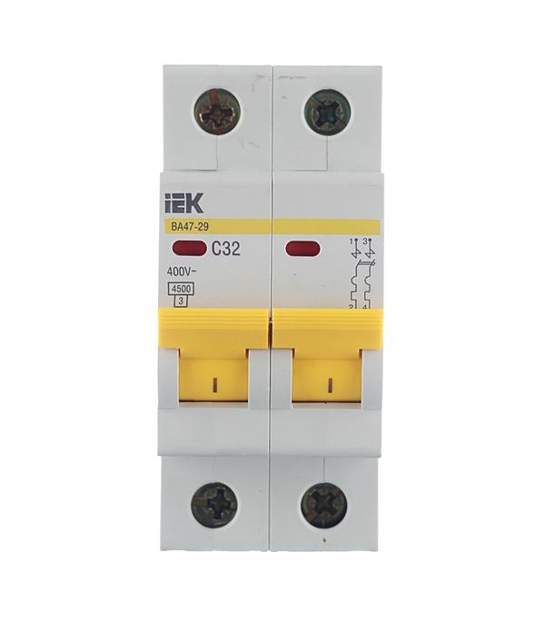 Автомат 2P 32А тип С 4.5 kA IEK ВА 47-29 автомат 1p 32а тип с 4 5 ka iek ва 47 29