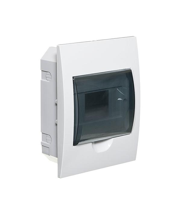 Щиток встраиваемый IEK ЩРВ-П для 6 модулей пластиковый IP41 щиток встраиваемый abb mistral для 24 модулей пластиковый 435х320х107 мм ip41