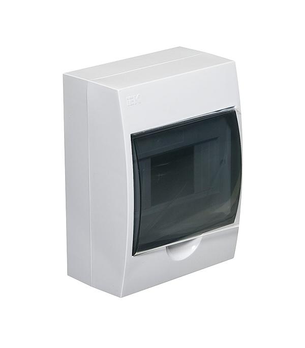 Щиток навесной IEK ЩРН-П для 6 модулей пластиковый IP41 щиток навесной для 12 модулей пластиковый 200х255х95 ip41 иэк щрн п