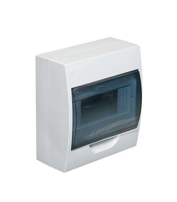 Щиток навесной IEK ЩРН-П для 8 модулей пластиковый IP41 щиток навесной для 12 модулей пластиковый 200х255х95 ip41 иэк щрн п