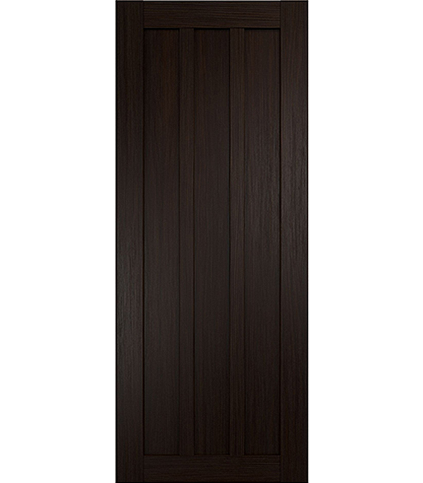 Дверное полотно экошпон Интери 3-0 венге 800х2000 мм глухое без притвора yuhuaze красота ящик для одежды темная ручка шкаф для шкафа дверная ручка раздвижная дверная ручка single single piece 64 pitch