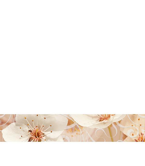 Плитка бордюр Сакура 400х75 мм коричневая плитка бордюр мурайя 250х75 мм бежевая