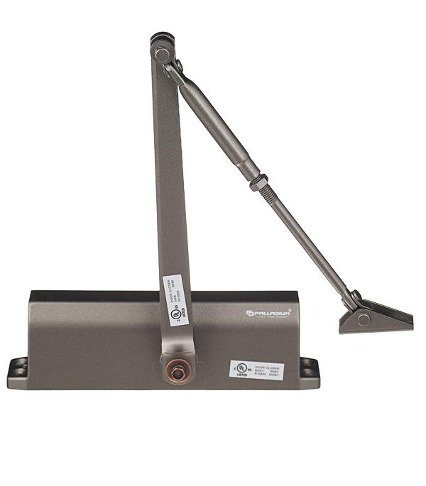 Доводчик дверной Palladium 10120 BC 80-120 кг коричневый доводчик palladium 1060 40 60 коричневый