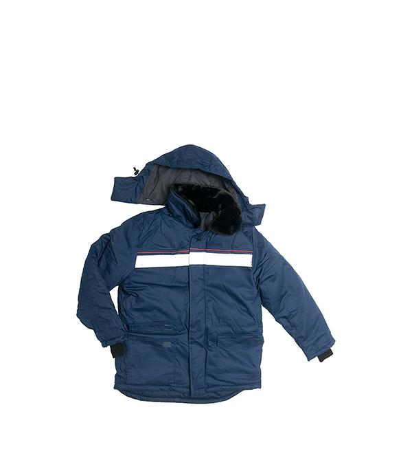 цена на Куртка утепленная темно-синяя АЛТАЙ, размер 48-50 (96-100), рост 182-188