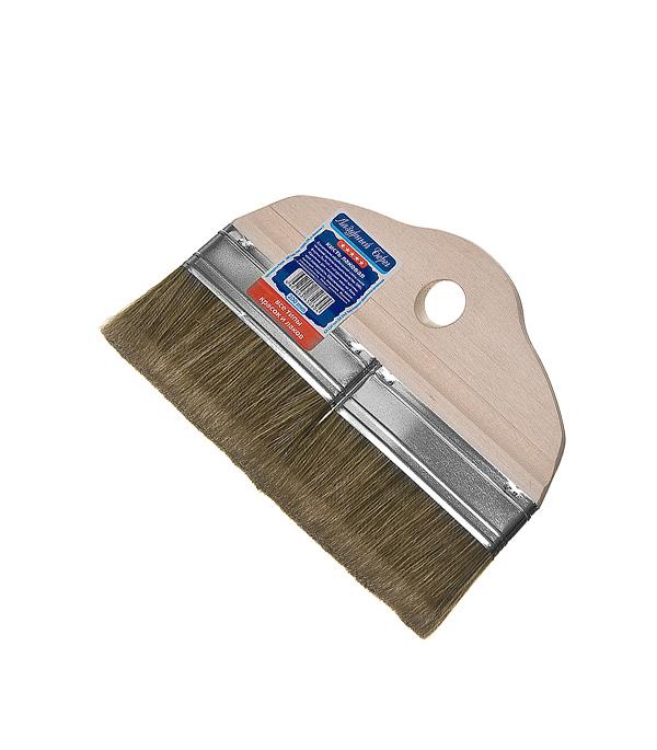Кисть плоская Лазурный берег 200 мм смешанная щетина деревянная ручка для лака кисть для лака botny