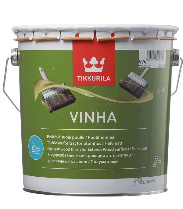 Купить Антисептик кроющий Tikkurila Vinha основа VVA 2.7 л, Белый