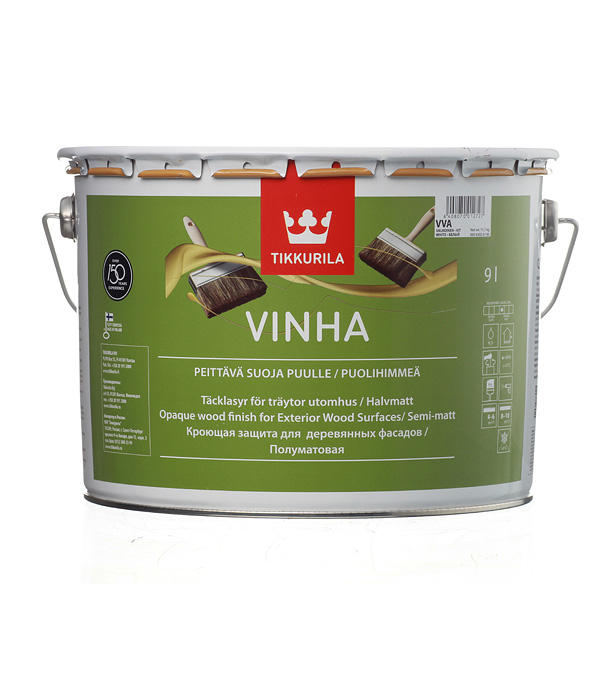 Купить Антисептик кроющий Tikkurila Vinha основа VVA 9 л, Белый