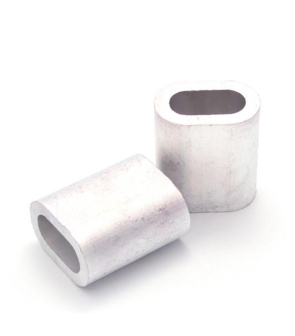 Зажим (наконечник) троса прижимной 8 мм DIN 9093 (1 шт.) наконечник jagwire оболочки троса тормозного 4мм сплав 50 штук bot192 2bj