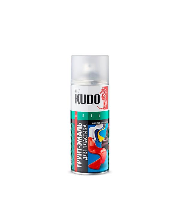 Грунт-эмаль для пластика Kudo RAL 9003 белая аэрозольная 520 мл грунт kudo 2003 универсальный алкидный 520мл черный