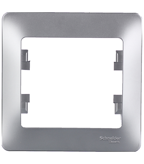 Рамка oдноместная Schneider Electric Glossa аллюминий рамка schneider electric glossa 284581