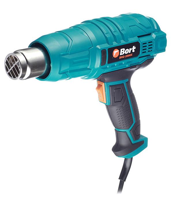 Фен строительный Bort BHG-2000X 2000 Вт фен строительный fhg20001 2000 вт fixtec