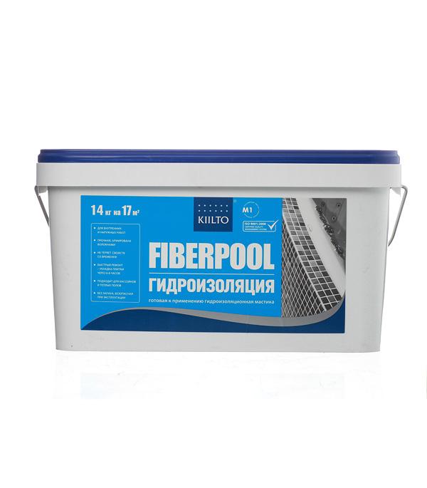 Купить Гидроизоляционная мастика KIILTO Fiberpool 14 кг, Зеленый