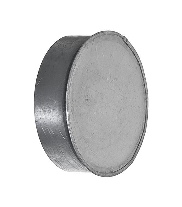 Купить Заглушка оцинкованная d125 мм, Хром, Сталь оцинкованная